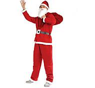 Недорогие -1шт Рождества одежды 5 шт Нетканые одежды для взрослых, чтобы выполнять костюмы Санта-Клауса одежду реквизит
