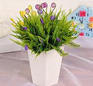 1 1 Филиал Пластик Pастений Букеты на стол Искусственные Цветы 28CM