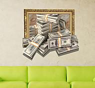 3d стикер стены деньги отверстие материал ПВХ декоративные настенные кожи