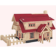 cheap -Wooden Puzzle House Professional Level Wooden 1pcs Kid's Boys' Gift