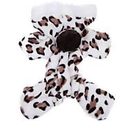 economico -Gatto Cane Felpe con cappuccio Tuta Pigiami Abbigliamento per cani Leopardata Marrone Rosa Pile Costume Per animali domestici Per uomo