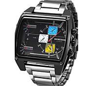Недорогие -Мужской Спортивные часы Армейские часы Нарядные часы Модные часы Наручные часы Календарь С тремя часовыми поясами Панк Цветной Кварцевый