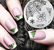 Планшеты шаблон рождественские шаблон искусства ногтя штемпелюя изображение 2016 последняя версия моды