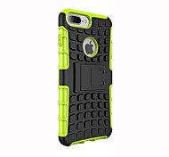 cheap -Case For Apple iPhone 5 Case Shockproof with Stand Back Cover Armor Soft Silicone for iPhone 7 Plus iPhone 7 iPhone 6s Plus iPhone 6s