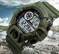 cheap -SKMEI Men's Wrist watch Digital Alarm Calendar / date / day Chronograph Water Resistant / Water Proof LCD Rubber Band Charm Black Green