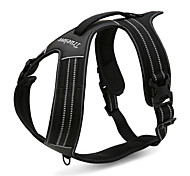 Dog Harness Adjustable / Retractable Reflective Solid Nylon Mesh