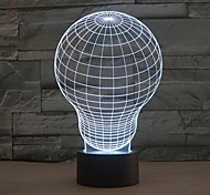 лампочка касания затемнением 3D LED ночь свет 7colorful украшения атмосфера новизны светильника освещения свет рождества