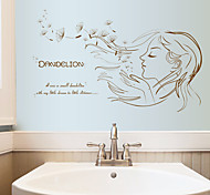 cheap -People Fashion Florals Wall Stickers Plane Wall Stickers Decorative Wall Stickers Home Decoration Wall Decal Wall