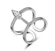 cheap -Women's Adorable Crystal / Synthetic Diamond Rose Gold / Sterling Silver Knuckle Ring / Band Ring - Sexy / Multi-ways Wear / Fashion