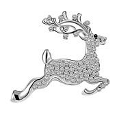 Недорогие -Женский Броши Chrismas Pоскошные ювелирные изделия европейский Искусственный бриллиант В форме животных Олень Бижутерия Назначение