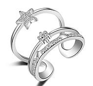 Недорогие -Жен. Кольцо на кончик пальца Кольцо Серебряный Золотой Розовое золото Стерлинговое серебро Секси Multi-Wear способы Мода обожаемый