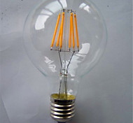 cheap -1pc 500-550 lm E26/E27 LED Filament Bulbs G125 6 leds COB Decorative Warm White Yellow AC 220-240V