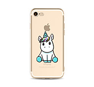 Funda Para Apple iPhone X iPhone 8 Plus iPhone 7 iPhone 6 Funda iPhone 5 Traslúcido Diseños Cubierta Trasera Unicornio Suave TPU para
