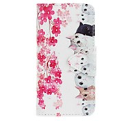 For Samsung Galaxy J5 (2016) J5 EFORCASE Flowers and Cats Painting PU Phone Case