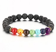 cheap -2016 New Natural Black Lava Stone Bracelets Balance Beads Bracelet for Men Women Stretch Yoga Jewelry Gifts