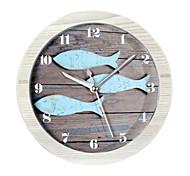 Недорогие -счастливые подарки высокого качества mitation цвет древесины ретро Европейский стиль деревянные часы