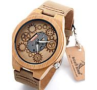 Damen Sportuhr Militäruhr Kleideruhr Modeuhr Uhr Holz Armbanduhr Einzigartige kreative Uhr Quartz / Leder Band Vintage Cool Bequem