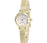 Недорогие -Жен. Наручные часы Имитация Алмазный / Cool сплав Группа На каждый день / Elegant / Мода Серебристый металл / Золотистый