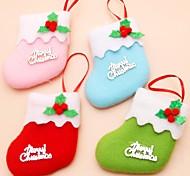 6шт / серия украшения рождественской елки елка орнамент Рождество носки детские игрушки подарок крошечные партия декора (типа случайная)