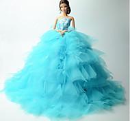 Недорогие -Свадьба Платья Для Кукла Барби Кружево органза Платье Для Девичий игрушки куклы