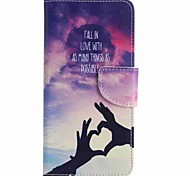For Samsung Galaxy J7 prime J5 prime Love Hand Painting PU Phone Case