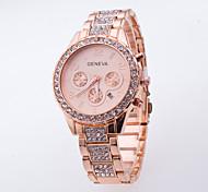Women's Fashion Casual Wrist Watch Popular Dress Watch Of Rhinestone Generva Quartz Watch Ladies With Calendar Watch Men