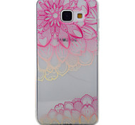 For Samsung Galaxy A5 A3 (2016) Case Cover Pink Full Flower Pattern Painted TPU Material Phone Case