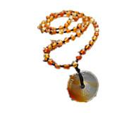 Муж. Ожерелья с подвесками длинное ожерелье Агат Религиозный Бижутерия Повседневные 1шт