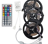 cheap -15M(3*5M) 3528 RGB LED Flexible Strip Light No-waterproof DC12V 900LEDs with 44Key Remote Controller Kit