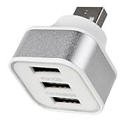 baratos -Carregador Portátil Carregador USB do telefone Universal 3 Portas USB 2.1A 2A 1A DC 5V Para iPad Para Celular Para Tablets