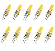 cheap -10pcs 1.5W 200-250 lm G4 LED Corn Lights T COB leds COB Decorative Warm White Cold White AC/DC 12 AC 12V