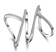 Недорогие -Жен. Кольцо / Кольцо на кончик пальца / Обручальное кольцо - Серебристый Мода Стандартный размер Серебряный Назначение Свадьба / Для вечеринок / Повседневные