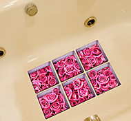 Цветы Наклейки Простые наклейки Наклейки для туалета,Винил материал Украшение дома Наклейка на стену