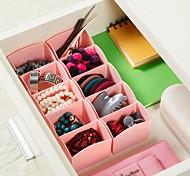 cheap -Drawer Separating Underwear  Bra Bra Underwear Tie Sub Compartment Storage Box  Home Desktop  Plastic DrawerType Storage Box