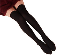 cheap -Socks/Stockings Classic/Traditional Lolita Lolita Black Lolita Accessories Stockings Solid For Cotton