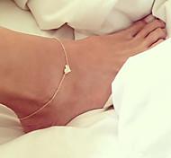 Недорогие -Ножной браслет - Сердце, Любовь европейский Серебряный / Золотой Назначение Свадьба / Повседневные / Жен.