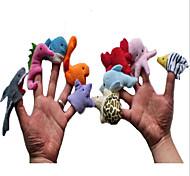 Недорогие -Мягкие игрушки Пальцевая кукла Мягкие и плюшевые игрушки Игрушки Динозавр Оригинальные Плюш Мальчики Девочки Куски