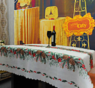 Christmas Flower Tablecloth Polyester Cover Christmas Table Cloth 150*180Cm
