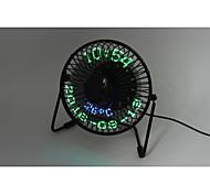 Novedad 3-in-1 Desktop calendar,clock&temperature fan 130cm 145*168*115 Negro