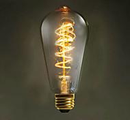 e27 st64 alambre alrededor 60w 220v-240v edison retro bombillas decorativas
