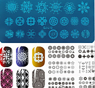 Nail Art Stamp Stamping Image Template Plate BC Lace Series