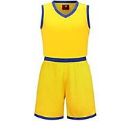 Муж. Детские Без рукавов Спорт в свободное время Бадминтон Баскетбол Бег Наборы одежды Багги Шорты Быстровысыхающий Дышащий