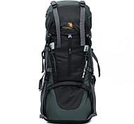 Недорогие -70 L Заплечный рюкзак Отдых и Туризм Восхождение Спорт в свободное время Водонепроницаемость Защита от пыли Пригодно для носки