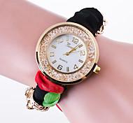 Mulheres Relógios Femininos com Cristais Relógio de Moda Relógio Casual Quartzo / Tecido Banda Casual Cores Múltiplas
