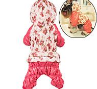 Недорогие -Собака Толстовки Комбинезоны Одежда для собак Очаровательный На каждый день Сохраняет тепло Цветочные / ботанический Розовый Розовый