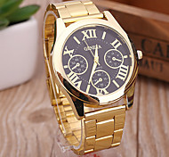Women's Dress Watch Fashion Watch Wrist watch Bracelet Watch Punk Large Dial Quartz Alloy Band Vintage Charm Bangle Casual Cool Gold