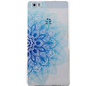 For Huawei Y5II Y6II Y625 Y635 5X P9 P8 Lite Case Cover Blue Half Flowers Pattern Painted TPU Material Phone Case