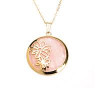 süße rosa Acryl-Inlay Edelstahl 316l Daisy Anhänger Halskette,