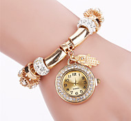 Women's Fashion Watch Bracelet Watch Casual Watch / Quartz Alloy Band Casual Elegant Cool Black White Blue Red Green Pink Strap Watch