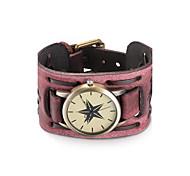 cheap -Women's Wrist watch Bracelet Watch Fashion Watch Quartz Water Resistant / Water Proof Leather Band Vintage Bohemian Bangle Black Red